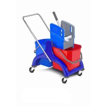 Upratovací vozík plastový 2 x 25l vedrá so žmýkačom bez vaničky
