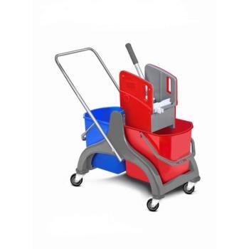 Upratovací vozík plastový 2 x 18l vedrá so žmýkačom bez vaničky