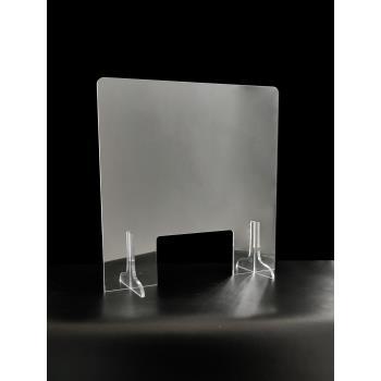 Priehľadná ochranná plexi prepážka 1250x860 mm