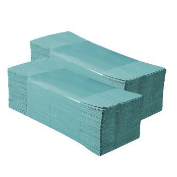 Papierové utierky ZZ, 1-vrstvové, ZELENÉ, 250ks/bal