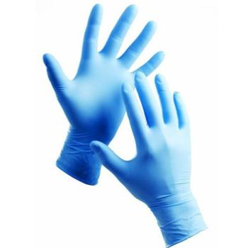 Nitrilové rukavice MODRÉ, veľkosť M - NEPUDROVANÉ, 100ks/bal.