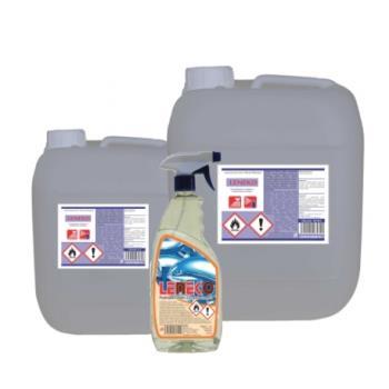 LENEKO 750 ml, leštenie nerezu, PET flaša s rozprašovačom