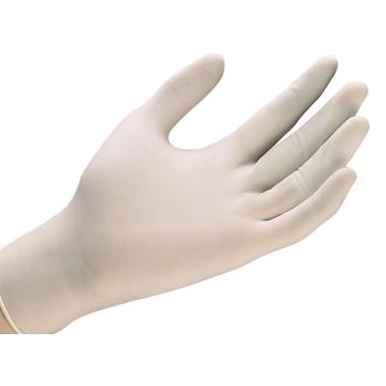 Latexové rukavice BIELE, veľkosť M- PÚDROVANÉ, 100ks/bal