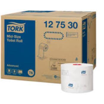 Tork Mid-size 2-vrstvový toaletný papier